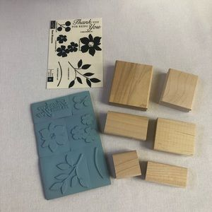 Stampin'up Best Blossoms Set of 6 Stamps